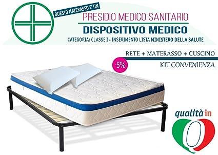InMaterassi Kit Dulce Sueño, colchón de Matrimonio Memory Foam ortopédico, hipoalergénico y ergonómico,