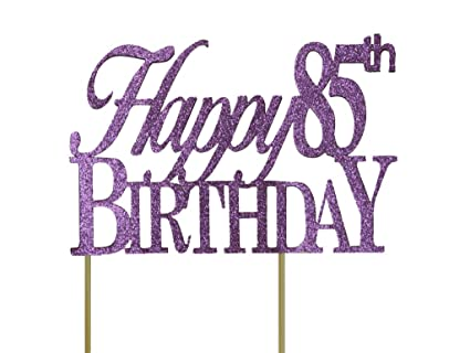 Amazon All About Details Purple Happy 85th Birthday Cake Topper