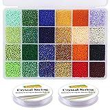 EuTengHao 14400pcs Glass Seed Beads Small Craft
