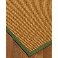 NaturalAreaRugs Portugal Sisal Area Rug 5 x 8 Green Border