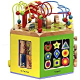 Wanju MEIDUO toys Hexahedron Children Beaded Around The Beads Toys Baby Educational Development Of Early Education Toys Children's Toys