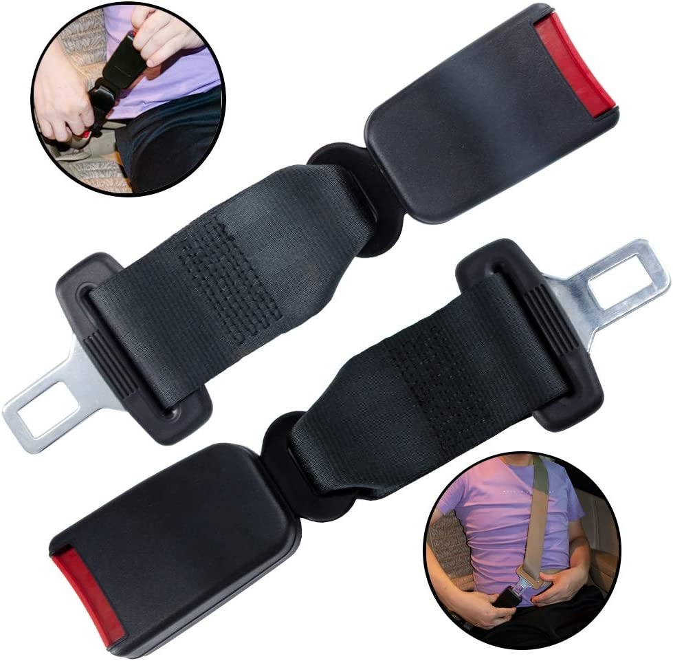 7//8 Metal Tongue Comfortable Seatbelt Buckle 2 Pcs Seat Belt Extender Car Seat belt Extenders 9.06Inches Seat Belt Extension for Obese Men Pregnant Women Child Safety Seats Suitable for Most Cars