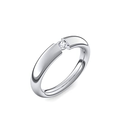 Spannring Platin Ring Diamant 0 10 Carat Tw Vs Sehr Hochwertig
