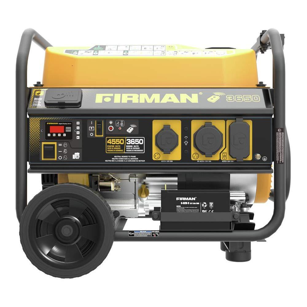 Firman P03603 Performance Series 3650 4550 Watt Gas Onan Rv Generator Remote Wiring Diagram Powered Portable Start With Wheel Kit Garden Outdoor