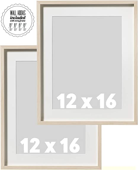 IKEA Marco de fotos de madera de abedul natural, 30,5 x 40,6 cm, marco