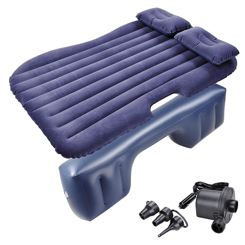 deeiwhy Car Travel Inflatable Mattress Air Cushion Backseat Rest Bed with Pillow Pump. O14742
