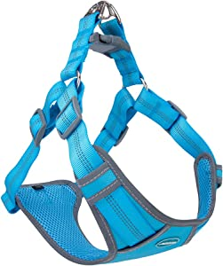 ThinkPet Escape-Proof Comfortable Harness - No Pull Breathable Reflective Padded Dog Safety Vest Adjustable Harness