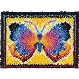 Wonderart Butterfly Fantasy Latch Hook Kit, 15'' X 20''