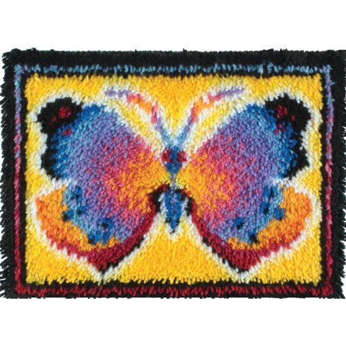 WonderArt Butterfly Fantasy Latch Hook Kit, 15'' X 20'' by WonderArt