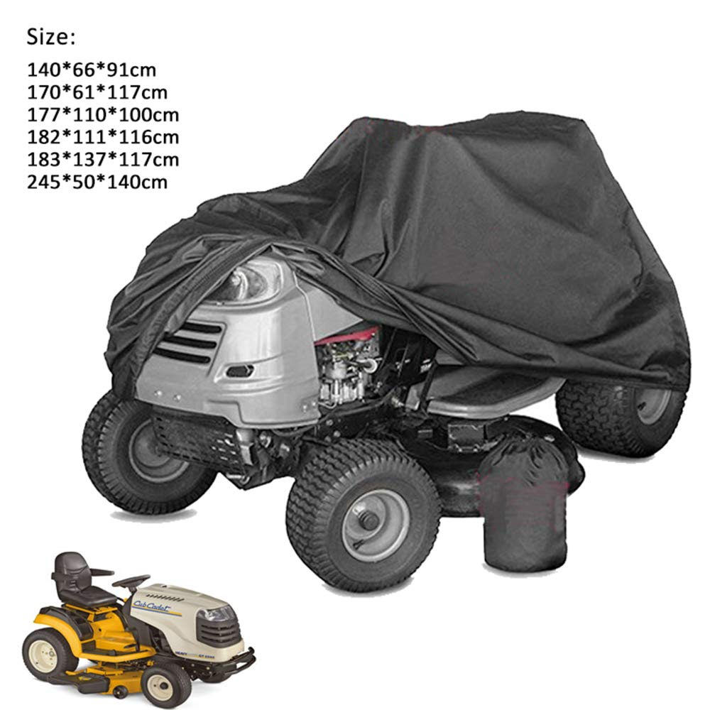 RIYIFER Lawn Mower Cover, Push Mower Covers, Heavy Duty 210D Waterproof Tear Resistant Oxford Cloth Available in A Variety of Sizes,Black,XL by RIYIFER