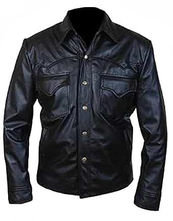 Classyak Hombre Moda Especial Diseño elegante cierre de botón chaqueta de piel: Amazon.es: Ropa y accesorios