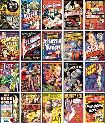 Classic Exploitation Collection: 20 Full Color Vintage Movie Postcards (Postcard Classic Vintage)