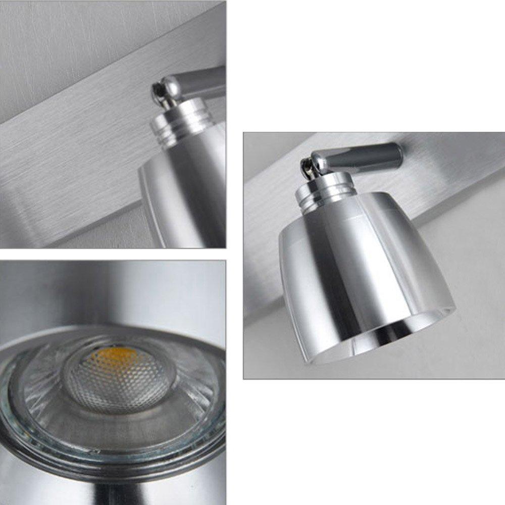 LED Schwenkbar Spiegellampe Einstellbar Edelstahl Spiegelleuchte Wasserdicht Wandlampe Modern Einfaches Badleuchte Klassisch Leuchte f/ür Badezimmer Gang Schlafzimmer Wohnzimmer Korridor Treppen