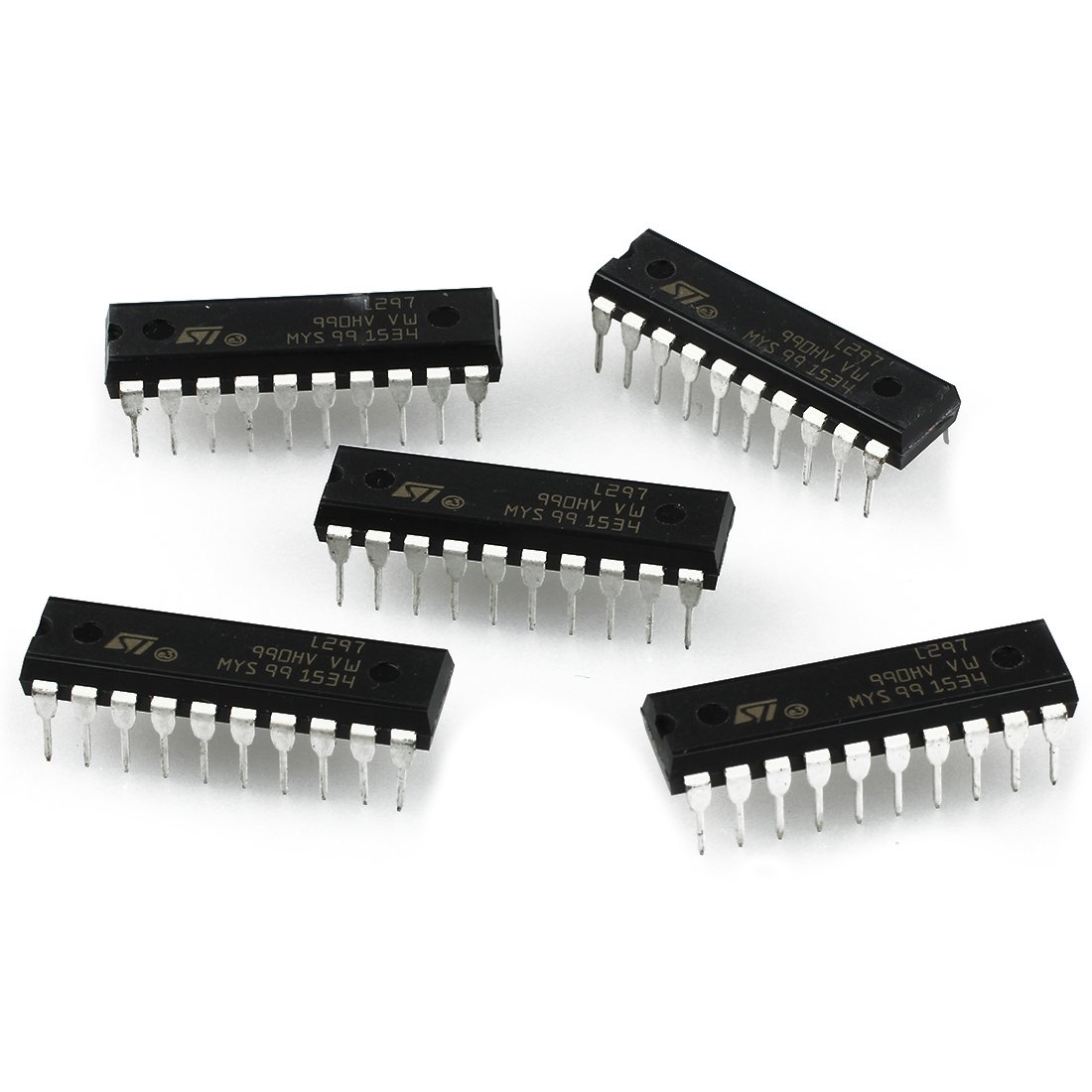 SODIAL(R)5Pcs L297 ST IC Stepper Motor CTRLR 20-DIP New Good Quality 49732