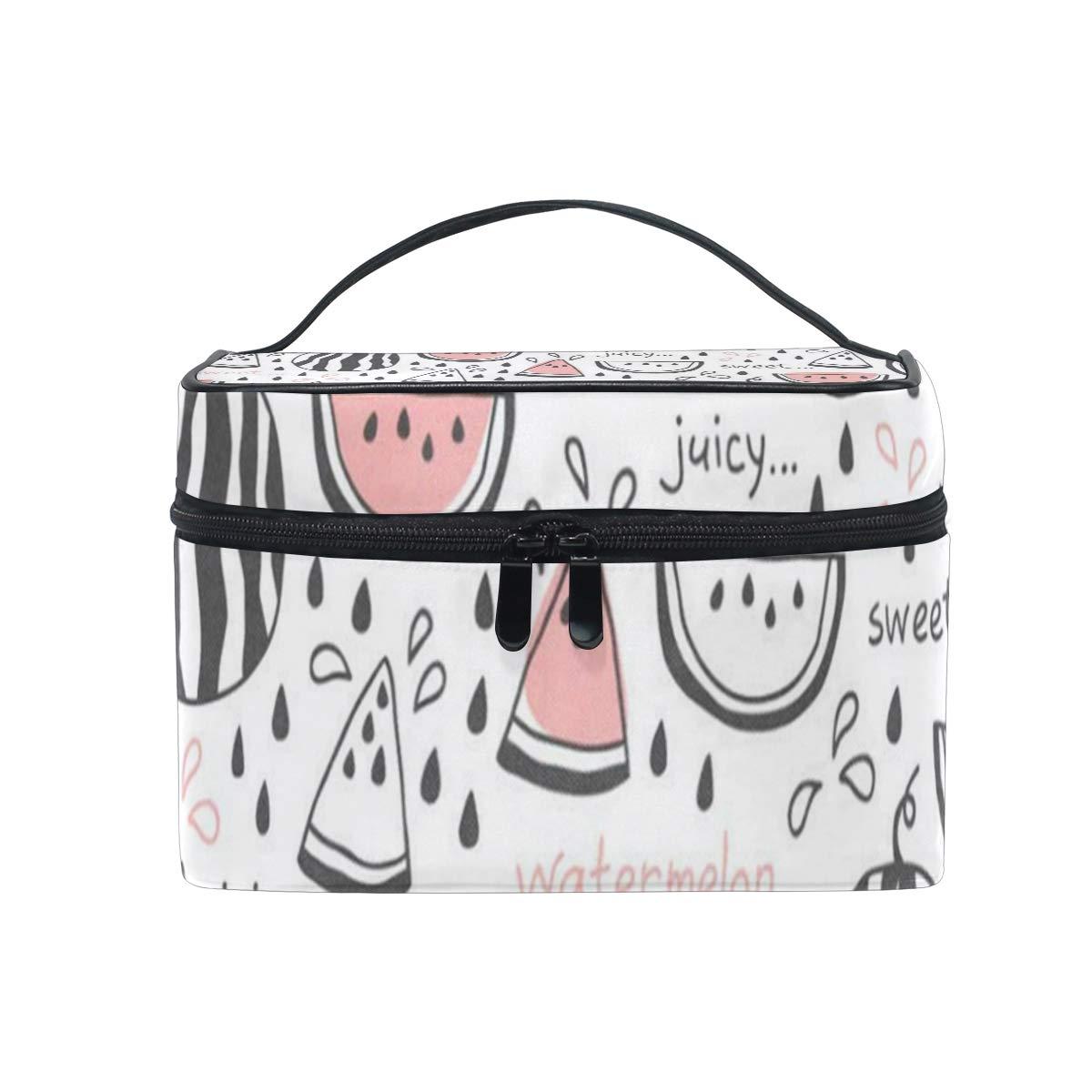 a47b5bffa548 Amazon.com : Travel Cosmetic Bag Watermelons Toiletry Makeup Bag ...