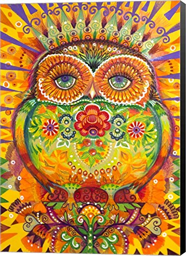 King Owl by Oxana Zaika Canvas Art Wall Picture,