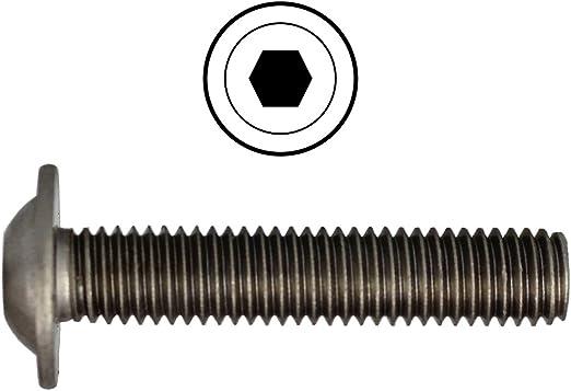 ISO 7380-2 Flachrundschrauben Innensechskant Flansch Vollgewinde Edelstahl A2
