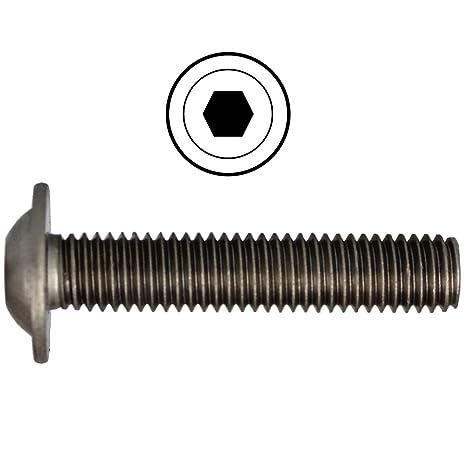 Flachkopfschrauben Linsenkopfschraube rostfreier Edelstahl A2 V2A | Innensechskant ISK ISO 7380 BiBa-Schrauben M5x10 | Linsenschrauben Vollgewinde 10 St/ück