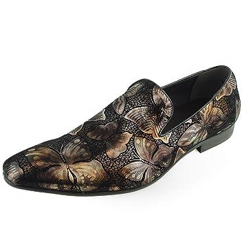 Beston Zapatos extravagantes para Hombres Mocasines sin Cordones con Punta Lisa Zapatos Casuales (Color : Gold, Size : 41 EU): Amazon.es: Hogar