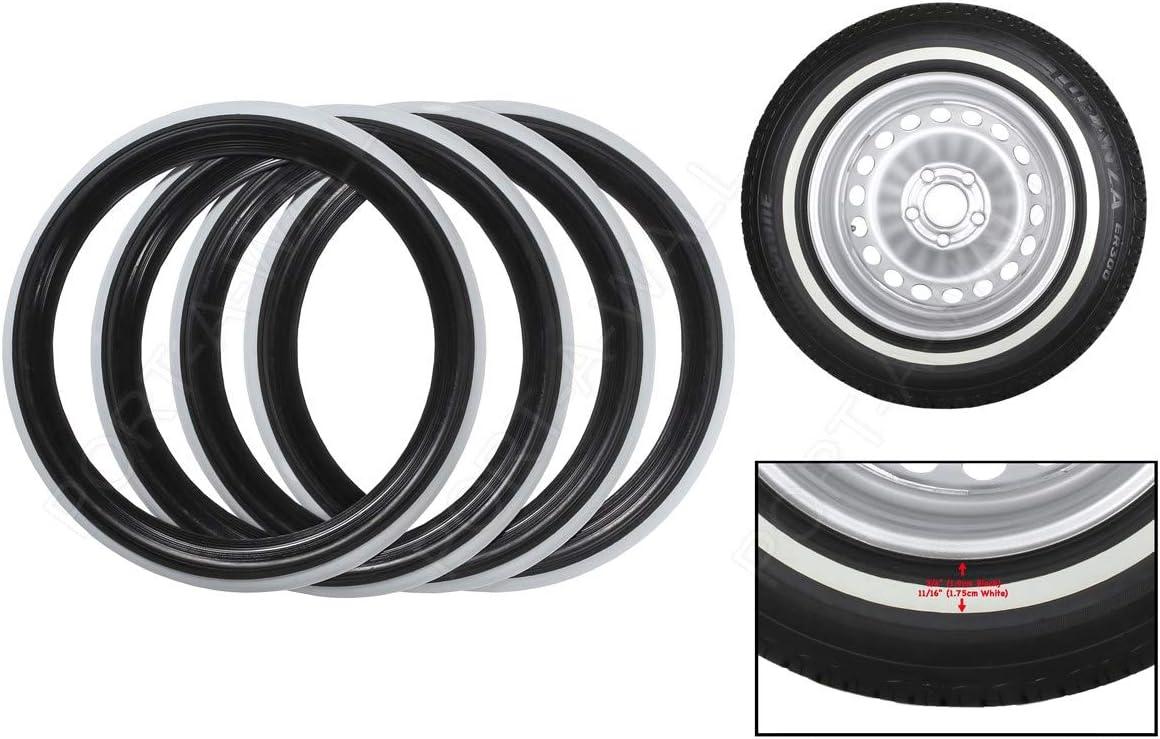 "19/"" Motorcycle White Wall Portawall Tyre insert Trim Set of4."