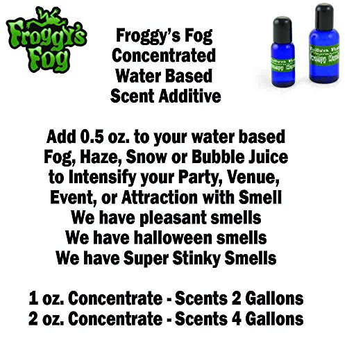1 oz. PEPPERMINT – Water Based Scent Additive for Fog, Haze, Snow & Bubble Juice – Scents 2 Gallons