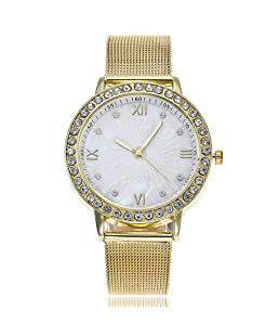 Armbanduhr Damen,Armbanduhren für Frauen Uhren Damen Ultradünn Uhr Günstige Casual Analoge Quarz Uhr Luxus Armband Uhren Edelstahl Uhr Business Mädchen Frau