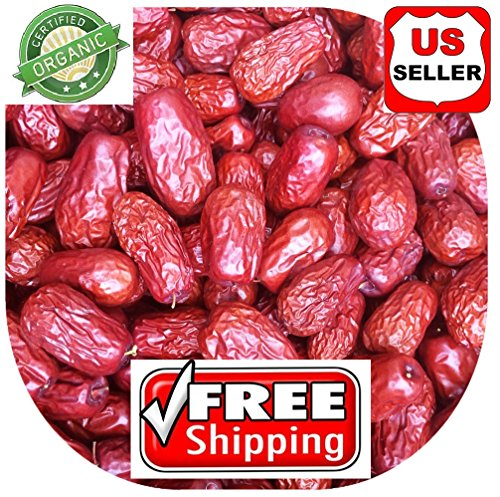 1 LB (16oz) ALL NATURAL GROWN ORGANICLLY Dried JUJUBE DATES,Dates,CHINESE DATES