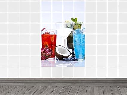 Piastrelle adesivo piastrelle immagine sticker per cucina cocktail