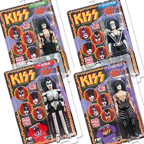 KISS 12 Inch Action Figures Series Three Sonic Boom: Set of 4