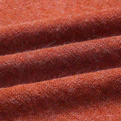 Camiseta Moda Tejer Rayadas Invierno Tallas Suelta Camisetas Pullover Básica Cuello Redondo Larga Mujeres Blusas Casual Tops Deporte Rojo Fiesta Grandes Manga De Otoño Elegante Euzeo Las zSqzfr