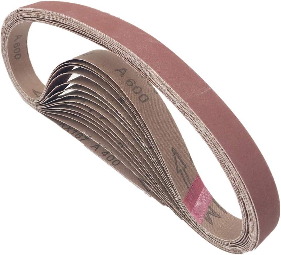 1x42 Sanding Belts Aluminum Oxide Sander Belts Sand Paper Replacement 80 120 180 240 400 600 Grits 24 Pack 1x42 Inch Amazon Com