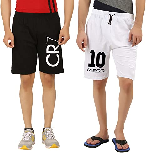 Hotfits Men's Cotton Graphic Shorts Men's Shorts at amazon