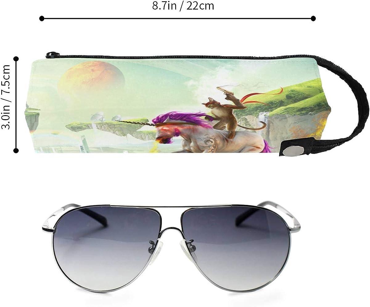 Cat Glasses Case Women Men Eyeglasses Bag Pencil Case Pouch