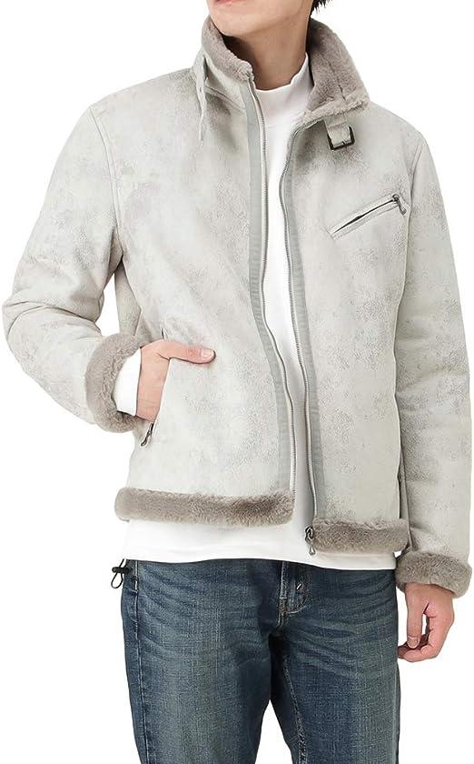 MOSSIMO モッシモ ライダースジャケット ジャケット ライダース アウター メンズ ムートンライクライダースジャケット ムートンライク ファー プリント 0540-1611