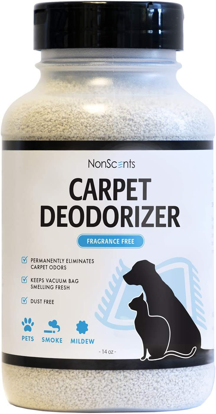 NonScents Carpet Odor Eliminator - Pet and Dog Carpet Deodorizer - Outperforms Baking Soda