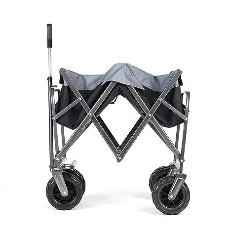 Sekey Carro Plegable de Mano, Carro de Playa, Carretilla Plegable, para Exterior, Remolque de jardín, Carro de Transporte Adecuado para Todos los ...