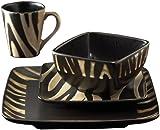 American Atelier Safari 16-Piece White Zebra Dinnerware Set  sc 1 st  Amazon.com & Amazon.com: VIETRI Wildlife Assorted Salad Plates: Home u0026 Kitchen