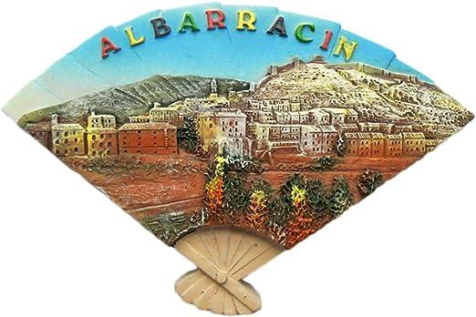 Albarracin España Imán de nevera 3d en forma de abanico de viaje ...