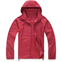 Lanbaosi Women's Super Lightweight Uv Protect+Quick Dry Waterproof Skin Jacket X-Small Dark Red