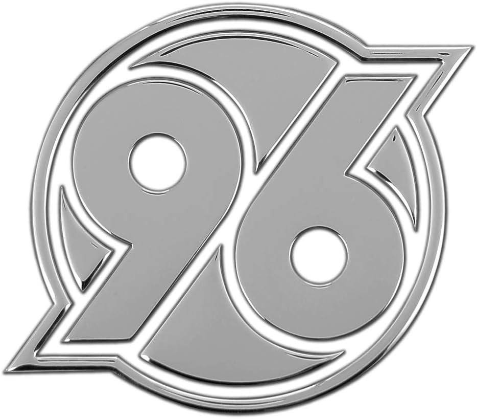 Chromlogo 3D Plus Lesezeichen I Love Hannover Sticker Autoaufkleber Logo H96 Hannover 96 Aufkleber