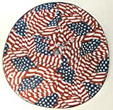 Small Tabletop Patriotic / Fourth of July Tree Skirt , 21'', U.S. Flag Pattern