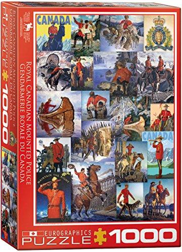 [EuroGraphics RCMP Collage 1000-Piece Puzzle] (Mountie Uniform)