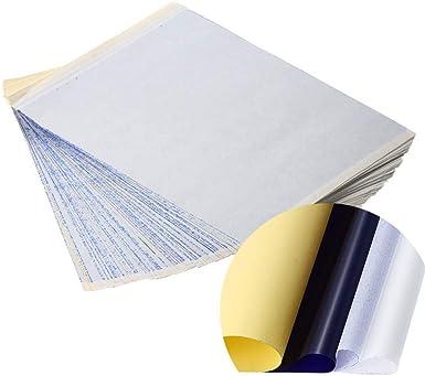 papel de transferencia de tatuaje Papel calco t/érmico de 4 capas de carbono papel calco