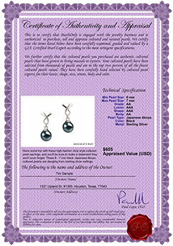 Riley-Black-6-7mm-AA-Quality-Japanese-Akoya-925-Sterling-Silver-Cultured-Pearl-Earring-Pair