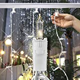 Clear Twinkling - 120 Volt - 50 Bulbs - Length 25 ft. - Bulb Spacing 6 in. - White Wire - Professional Icicle Light Strand - For Light Bar - GKI Bethlehem 292240