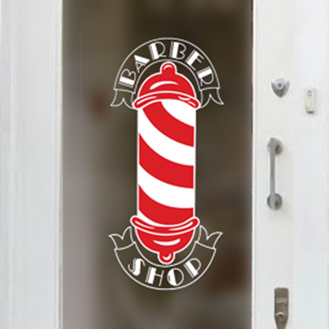 Cartello per negozio in vinile, con scritta Barber Shop [lingua inglese], per salone parrucchieri Wall4stickers EXPSFD010411