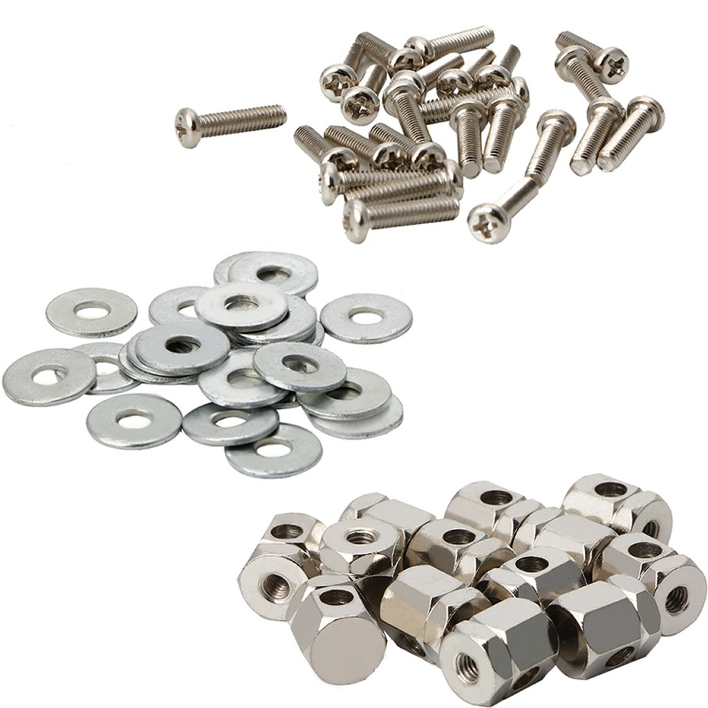 Kangnice 24 Sets Chrome Plated Screws Brackets Lugs Bolts for Banjo Parts Replacement