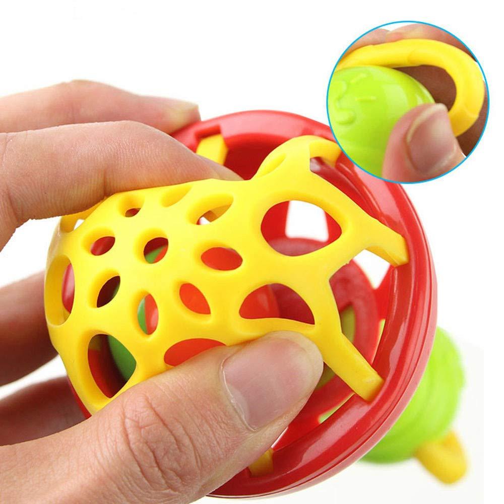 Multicolor Vovotrade/® B/éb/é Enfants Hochets Baguettes Main Jouets Dessin Anim/é Baby Kids Rattles Hand Bell Sticks Cartoon Toys Cute Cartoon Animal Ring Bell