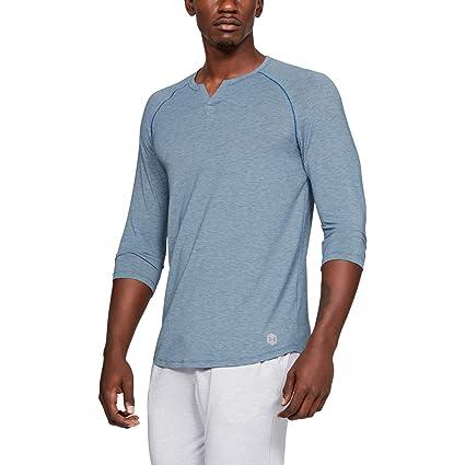 Under Armour UNDKU Hombre Recovery Sleepwear Henley Camisa Manga Corta