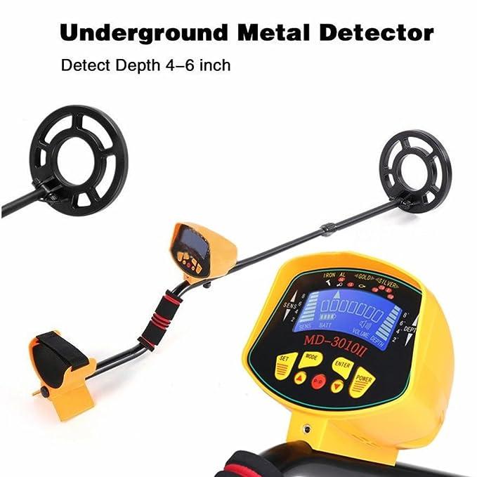 UPXIANG MD3010 - Detector de metales para el suelo (regulable, con gran poder de discriminación y alta precisión): Amazon.es: Jardín